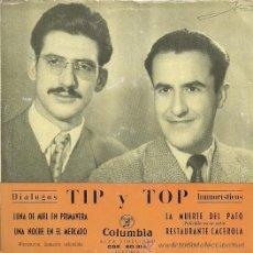 Discos de vinilo: TYP Y TOP EP SELLO COLUMBIA EDITADO EN ESPAÑA AÑO 1956. Lote 19109262