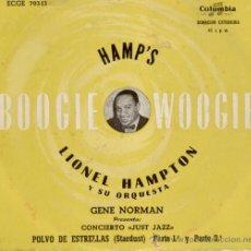Discos de vinilo: GENE NORMAN - LIONEL HAMPTON ORQUESTA - POLVO DE ESTRELLAS (STARDUST) - EP SPANISH OLDIE. Lote 26717888