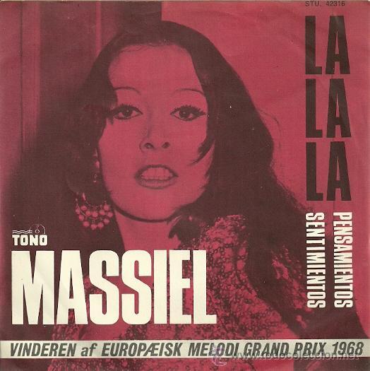 MASSIEL SINGLE SELLO TONO AÑO 1968 EDITADO EN DINAMARCA DEL FESTIVAL DE EUROVISIÓN (Música - Discos - Singles Vinilo - Solistas Españoles de los 50 y 60)