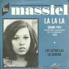 Discos de vinilo: MASSIEL SINGLE SELLO AZ AÑO 1968 EDITADO EN FRANCIA DEL FESTIVAL DE EUROVISIÓN. Lote 19166204