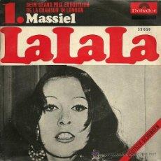 Discos de vinilo: MASSIEL CANTA EN ALEMAN SINGLE SELLO POLYDOR AÑO 1968 EDITADO EN ALEMANIA DEL FESTIVAL DE EUROVISIÓN. Lote 19166219