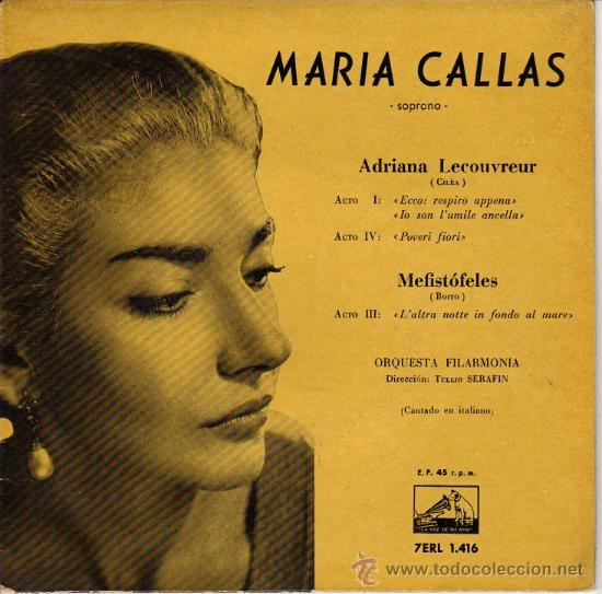 MARÍA CALLAS - ADRIANA LECOUVREUR/MEFISTÓFELES (Música - Discos - Singles Vinilo - Clásica, Ópera, Zarzuela y Marchas)