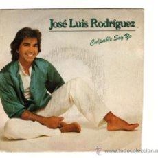 Discos de vinilo: UXV JOSE LUIS RODRIGUEZ SINGLE VINILO 1983 CULPABLE SOY CON LETRA CANCION BALADA LATINA POP. Lote 19178664