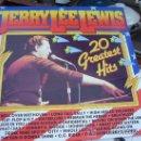 Discos de vinilo: JERRY LEE LEWIS, 20 GREATS HITS. Lote 19178720