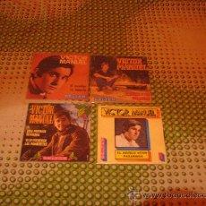 Discos de vinilo: LOTE 4 SINGLES 45 RPM / VICTOR MANUEL // EDITADO POR BELTER . Lote 24744474