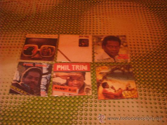 LOTE 6 SINGLE 45 RPM / PHILP TRIM ( LOS POP TOPS ) EDITADO POR EXPLOSION -CFE (Música - Discos - Singles Vinilo - Solistas Españoles de los 50 y 60)