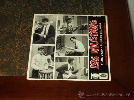 MUSTANG EP EL JUEGO DEL AMOR+3 COVER BEATLES (Música - Discos de Vinilo - EPs - Grupos Españoles 50 y 60)