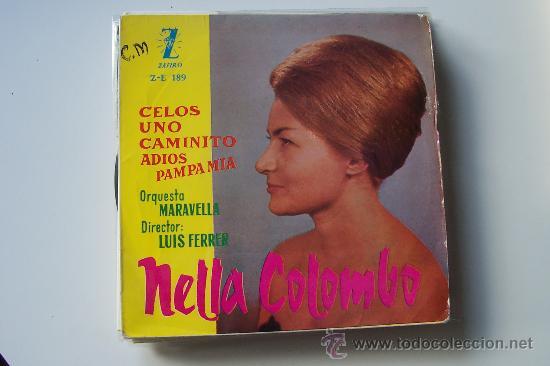NELLA COLOMBO EP CELOS (Música - Discos de Vinilo - EPs - Solistas Españoles de los 50 y 60)