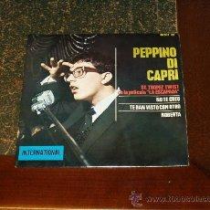 Discos de vinilo: PEPPINO DI CAPRI Y SUS ROCKEROS EP ROBERTA+3. Lote 19275925