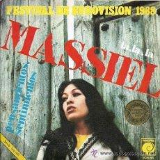 Discos de vinilo: MASSIEL - LA, LA, LA / PENSAMIENTOS, SENTIMIENTOS - EUROVISIÓN 1968. Lote 26782178
