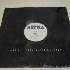 Discos de vinilo: STYLE (EMPTY BED - EMPTY BED INSTRUMENTAL) 1987 STOCKHOLM MAXI45. Lote 182300161