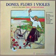 Discos de vinilo: LP 33 RPM. DONES, FLORS I VIOLES. MARIA AURELIA CAPMANY. ZAFIRO 1980. CANÇO CATALANA. COMO NUEVO.. Lote 26534998