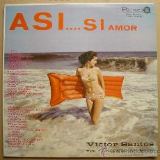 Discos de vinilo: VICTOR SANTOS~AS SI AMOR~LP PALACIO*EDITADO EN VENEZUELA. Lote 26527179
