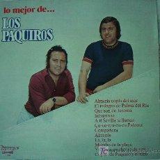 Discos de vinilo: LO MEJOR DE LOS PAQUIROS. Lote 27431685