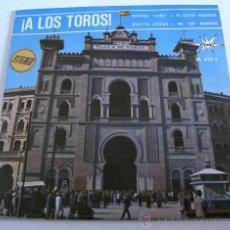 Discos de vinilo: SINLGE: A LOS TOROS! ESPAÑA CAÑI , EL GATO MONTES - PEPITA CREUS , EN ER MUNDO - MARFER 1966. Lote 19395189