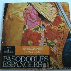Discos de vinilo: SINGLE: PASODOBLES ESPAÑOLES VOL 5 - EN ER MUNDO, CUNA CAÑI - ALHAMBRA 1960 (FUNDA EN MAL ESTADO). Lote 19395311