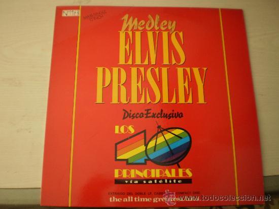 MAXI 12. ELVIS PRESLEY.MEDLEY. PROMOCIONAL. UNICO Y NUMERADO. EXCELENTE CONSERVACIÓN!!!!!!!! (Música - Discos de Vinilo - Maxi Singles - Rock & Roll)