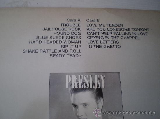 Discos de vinilo: Maxi 12. Elvis Presley.Medley. Promocional. Unico y nUmerado. Excelente conservación!!!!!!!! - Foto 2 - 26109506