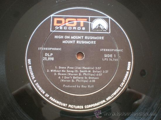Discos de vinilo: MOUNT RUSHMORE - HIGH ON - (USA-DOT-1969) HARD ROCK PSYCH LP - Foto 3 - 26049101