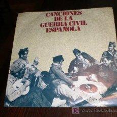 Discos de vinilo: SINGLE CANCIONES DE LA GUERRA CIVIL ESPAÑOLA. Lote 19446523