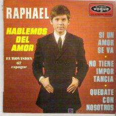Discos de vinilo: RAPHAEL - HABLEMOS DEL AMOR ** EP RARO DISQUES VOGUE 1964. Lote 19444279