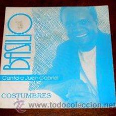 Discos de vinilo: BASILIO CANTA A JUAN GABRIEL- COSTUMBRES - CLASH 1.991 - PROMOCIONAL SOLO UNA CARA . Lote 19448064