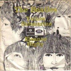 THE BEATLES - SINGLE VINILO 7'' - Editado en DINAMARCA - YELLOW SUBMARINE + ELEANOR RIGBY - año 1966