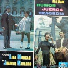 Discos de vinilo: LINA MORGAN Y JUANITO NAVARRO - LP, 1967. Lote 179245582