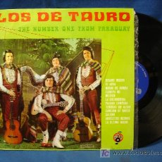 Discos de vinilo: - LOS DE TAURO. THE NUMBER ONE FROM PARAGUAY. ZAFIRO ESPAÑA 1972. Lote 21296951
