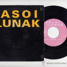 Discos de vinilo: SASOI LUNAK. 45RPM. HERRI XUMEAK+BAI,BADAKIT. ROCK VASCO. OIHUKA DISKAK AÑO 1993. Lote 105966312