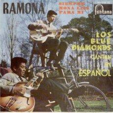 Discos de vinilo: LOS BLUE DIAMONDS - EN ESPAÑOL - RAMONA - EP 1961. Lote 27187079