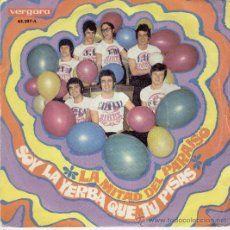 Discos de vinilo: LOS SIREX - LA MITAD DEL PARAISO - SOY LA YERBA QUE PISAS - SINGLE 1969. Lote 27207749