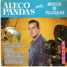 Discos de vinilo: ALECO PANDAS CANTA MUSICA DE PELICULAS ** EP BELTER 1963. Lote 19600940