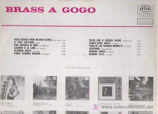 Discos de vinilo: brass a go go - dim record 1968 - Foto 2 - 19601964