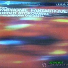 Discos de vinilo: HECTOR BERLIOZ.. SINFONIA FANTASTICA., LEOPOLDO STOKOWSKI ..THE NEW ORQUESTA FILARMONICA. Lote 22891159