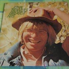 Discos de vinilo: JOHN DENVER'S GREATEST HITS /TAKE ME HOME,, COUNTRY ROADS, ROCKY MOUNTAIN HIGH,...) USA-1973 LP33. Lote 19636266