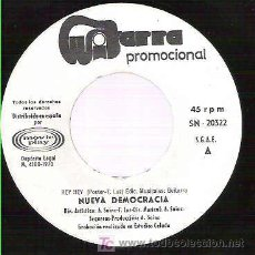 Discos de vinilo: NUEVA DEMOCRACIA - HEY HEY / SENTIMENTAL GIRL ** MOVIPLAY 1970 PROMO ** - UNICO TRABAJO. Lote 19665515