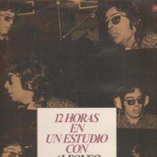 Discos de vinilo: LP 12 HORAS EN ESTUDIO CON ALFONSO SANTIESTEBAN Y SU ORQUESTA . Lote 26478612