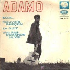 Discos de vinilo: SINGLE - ADAMO - ELLE, LA NUIT........ Lote 19678417