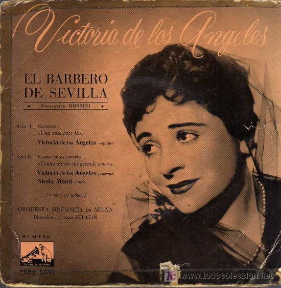 SINGLE - VICTORIA DE LOS ANGELES - EL BARBERO DE SEVILLA (Música - Discos - Singles Vinilo - Clásica, Ópera, Zarzuela y Marchas)