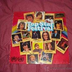 Discos de vinilo: MATHIEU..FRANKLIN..MOUSKOURI..CASH..LP TOP STAR FESTIVAL VARIOS ARTISTAS GER UNICEF. Lote 19679549