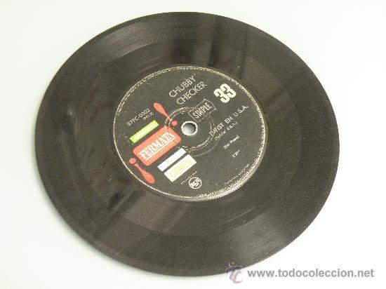CHUBBY CHECKER EL TWIST ED ARGENTINA FERMATA MUY RARO!! BUDDY HOLLY ELVIS GENE VINCENT EDDIE COCHRAN (Música - Discos de Vinilo - EPs - Rock & Roll)