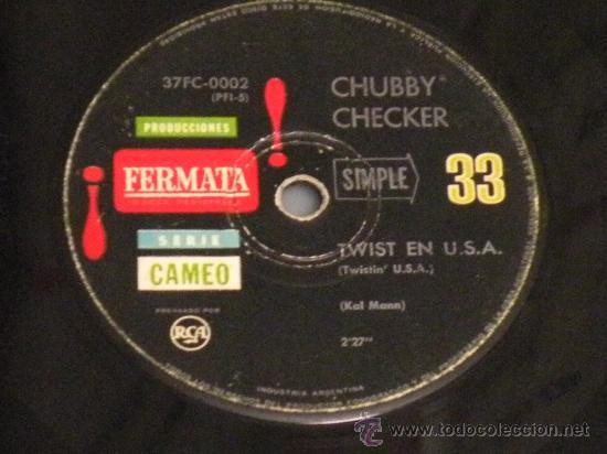 Discos de vinilo: CHUBBY CHECKER EL TWIST ED ARGENTINA FERMATA MUY RARO!! BUDDY HOLLY ELVIS GENE VINCENT EDDIE COCHRAN - Foto 3 - 27254150