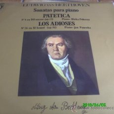 Discos de vinilo: BEETHOVEN.SONATAS PARA PIANO,PATETICA.LOS ADIOSES. MIRKA POKORNA.PIANO.. JAN PANENKA-PIANO.. Lote 22455394