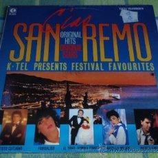 Disques de vinyle: CIAO SAN REMO (TOTO CUTUGNO,ALBANO & ROMINA,FIORDALISO,VALENTINO,BOBBY SOLO,PUPO,...) 1984-FINLANDIA. Lote 19716210