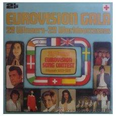 Discos de vinilo: FESTIVAL DE EUROVISION DOBLE LP MUY RARO CON TODAS LAS CANCIONES GANADORAS DE 1956 A 1981. Lote 27331120