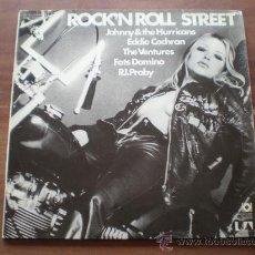Discos de vinilo: ROCK'N ROLL STREET (ALEMANIA-UA-197?) VENTURES, LONNIE MACK,EDDIE COCHRAN,... - ROCK & ROLL 2LP'S. Lote 24597487