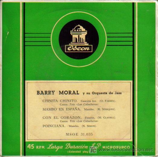 BARRY MORAL Y SU ORQUESTA DE JAZZ--- (Música - Discos de Vinilo - EPs - Orquestas)