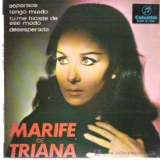 Discos de vinilo: MARIFE DE TRIANA - SEPARAOS ** EP COLUMBIA 1967. Lote 19825395