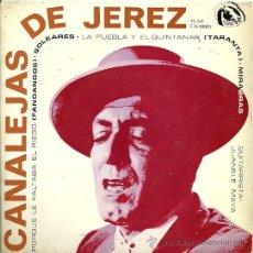 Discos de vinilo: CANALEJAS DE JEREZ EP SELLO FIDIAS AÑO 1966 GUITARRA: JUANELE MAYA.. Lote 19827593